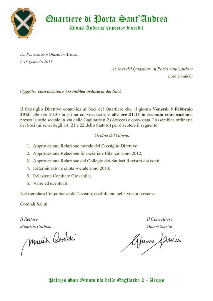 2013 convocazione ASSEMBLEA SOCI