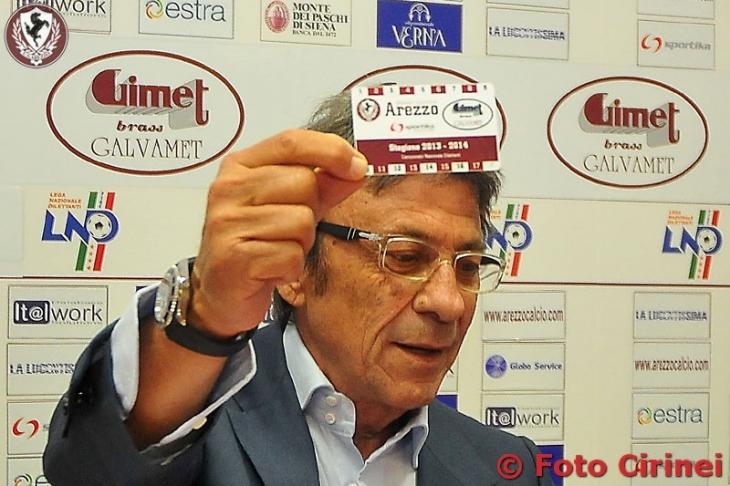 Il presidente dell'Arezzo Mauro Ferretti
